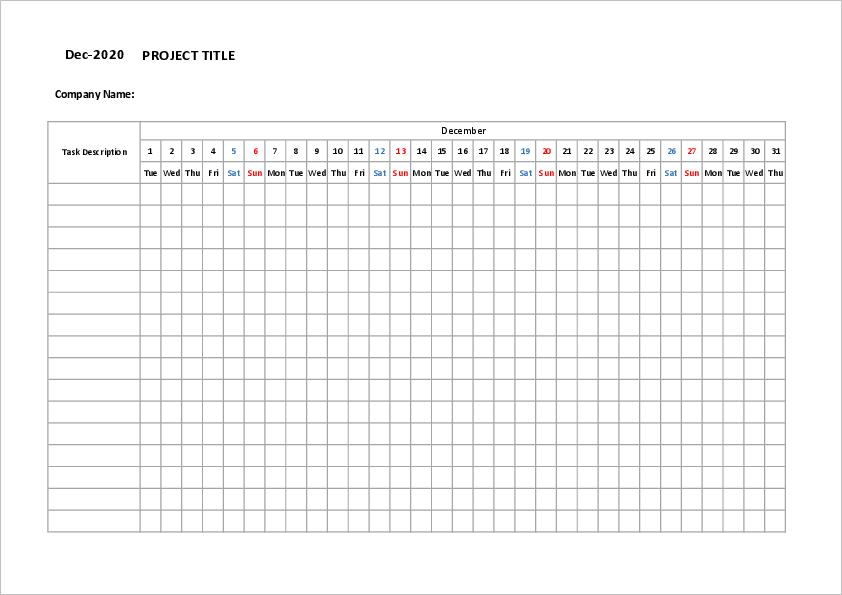 Project Management Timeline Template01