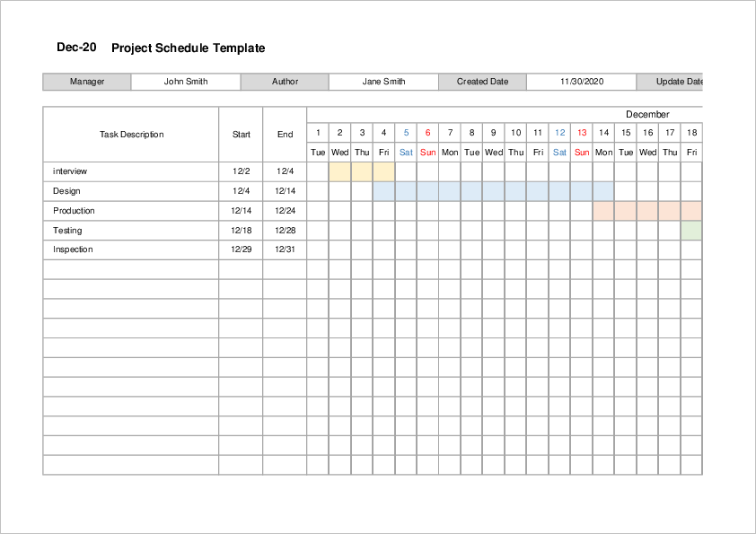 Project Management Timeline Template03