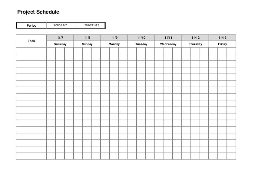 Project Management Timeline Template04