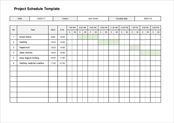 Project Management Timeline Template05
