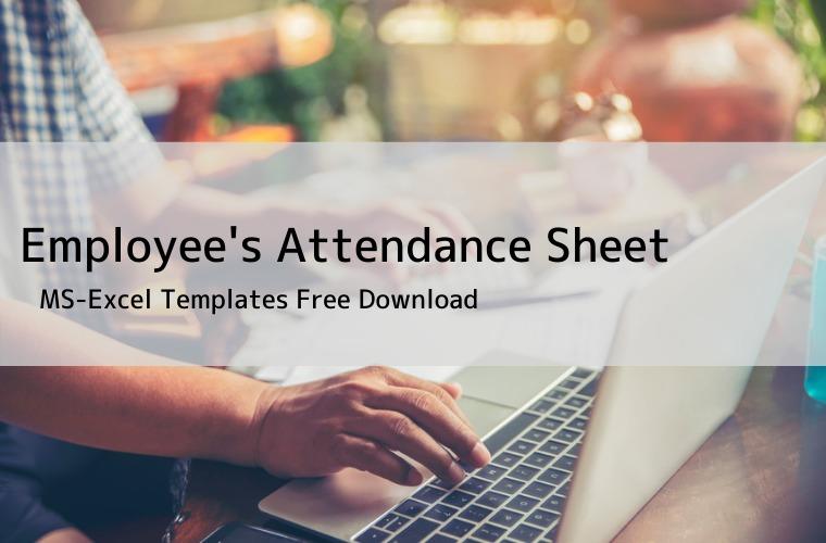 Employee's attendance sheet template