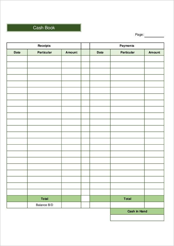Cash Book Template01