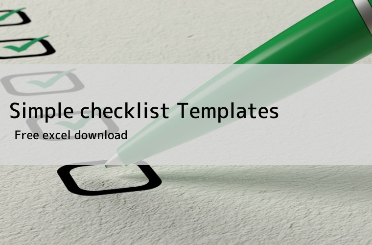free checklist excel template eye