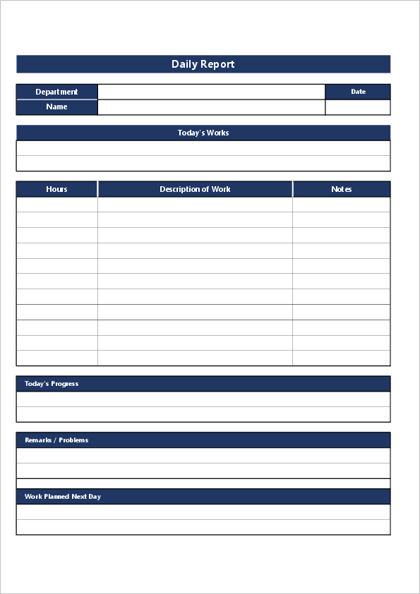 Daily Report Template03