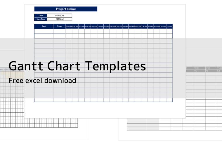 Gantt Chart Templates eye