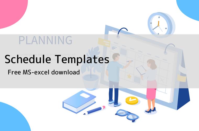 schedule template excel