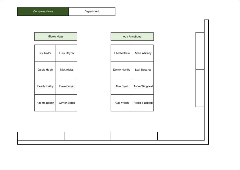 Office Seating Chart Template02 for Excel