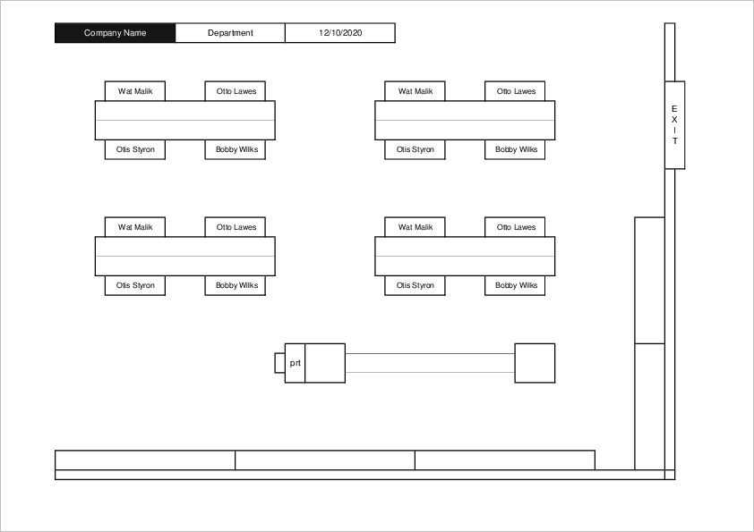 Office Seating Chart Template03 for Excel